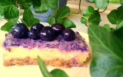 Ontbijten met Raw Vegan Blue Berry Cheese Cake :)
