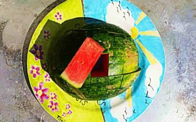 Raw Dag 29: Watermeloen eten, zo doe je dat!!