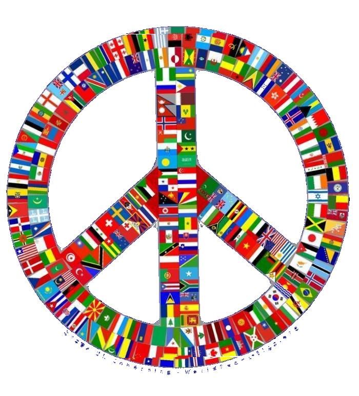 peace flag trans opac